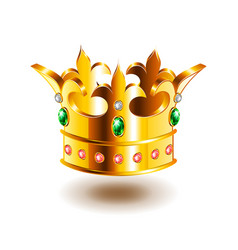 heraldic crown isolated on white vector image