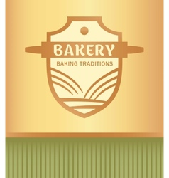 logo for a bakery with a picture of a rolling pin vector image