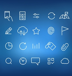 Modern web and mobile application pictograms vector image