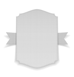 Realistic white Banner on Ribbon vector image