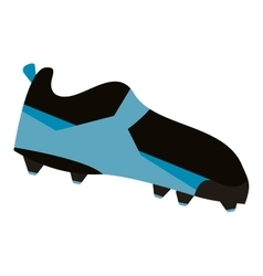 American football boot shoe spiked vector