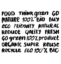 Eco lettering vector image