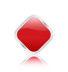 rhomb icon red vector image vector image