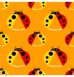 seamless pattern with ladybug vector image vector image