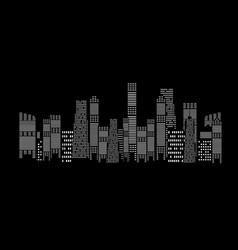 silhouette city background vector image vector image