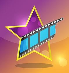 Star movie film entertainment icon vector