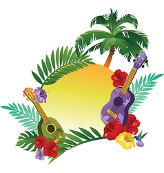 Tropical Abstract Banner vector image vector image