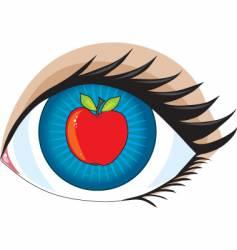 apple of my eye vector image