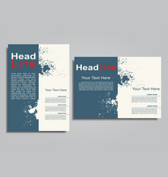 book album brochure cover design template vector image