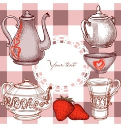 kitchen background vector image vector image