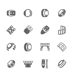 Simple Watch Band Icons vector image vector image