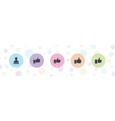 5 approve icons vector