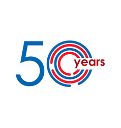 50 year anniversary logo template design vector