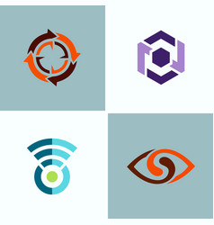abstract circle logos vector image