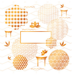 abstract japanese elements and backgrounds vector image