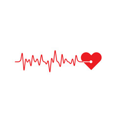 art design health medical heartbeat pulse vector image