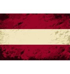 Austrian flag Grunge background vector