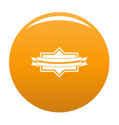 badge ribbon icon orange vector image