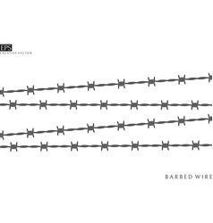 barbed wire silhouette vector image