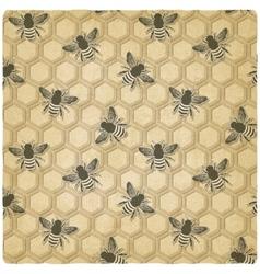 Bee honeycomb pattern vector