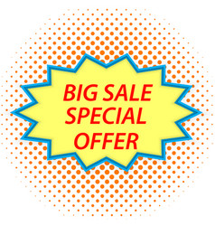 big sale sign in retro style vector image