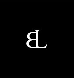 bl letter mark monogram logo icon vector image