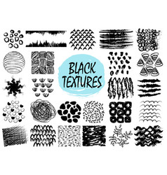 Black textures samples on vector