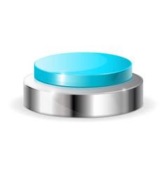 Blue push button vector