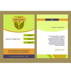 Brochure Flyer design template in A4 size Logo vector