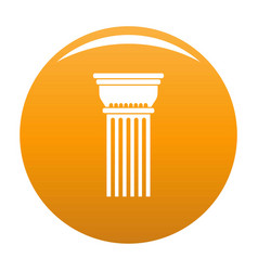 building column icon orange vector image
