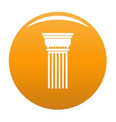building column icon orange vector image