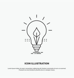 bulb idea electricity energy light icon line gray vector image