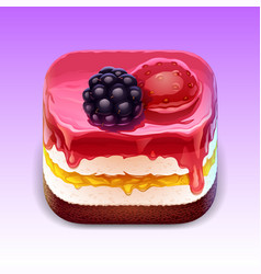 Cake ios app icon vector