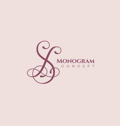 Calligraphic monogram sl vector