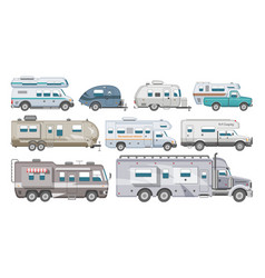 caravan rv camping trailer and caravanning vector image