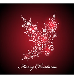 Christmas card with Red Holly vector