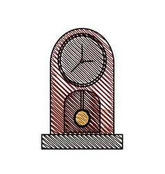 clock pendulum time classic vector image