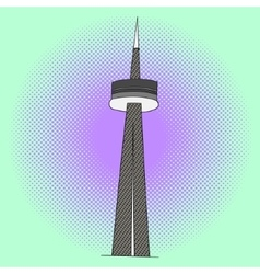 CN Tower pop art vector