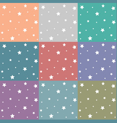 colorful stars patterns vector image