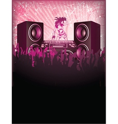 concert poster with speakers vector image
