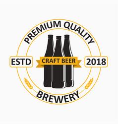 craft beer logo vector image