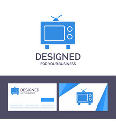 creative business card and logo template tv vector image