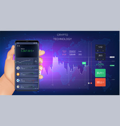 crypto online commerce forex banner vector image