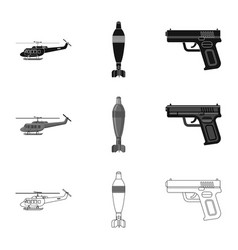 design of weapon and gun logo set of vector image