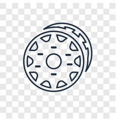 doughnut concept linear icon isolated on vector image