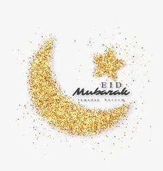 Eid mubarak glitter design vector