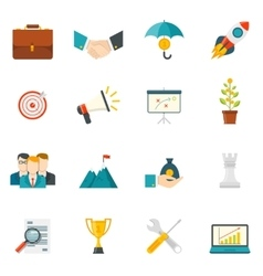 Entrepreneurship Flat Color Icons vector image