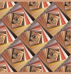 geometric colorful striped greek seamless vector image