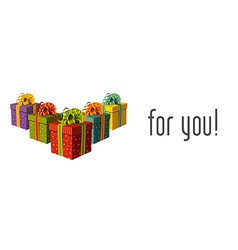 Gifts for you vector image