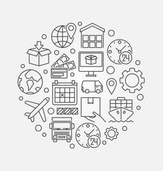 Global logistics circular vector